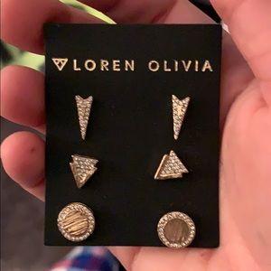 Loren Olivia earnings set of 3